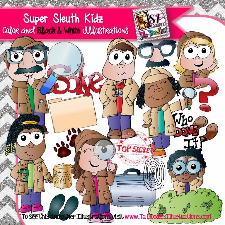 https://www.teacherspayteachers.com/Product/Super-Sleuth-Detective-Kids-Clip-Art-1728018