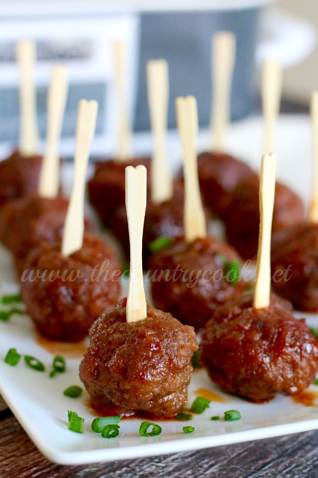 Crock Pot Ultimate Party Meatballs - The Country Cook