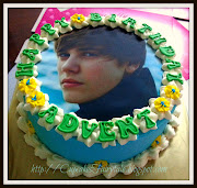 ADVENT'S JUSTIN BIEBER BIRTHDAY CAKE. Posted by Cupcakes Fairytale at 4:28 . (advent )
