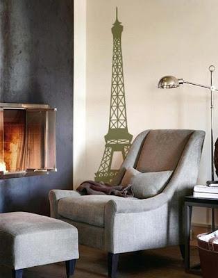 eyfel+kulesi+duvar+sticker+modeli Evinize Duvar Sticker Modelleriyle Renk Katın