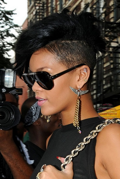 Rihanna Edgy Hairstyles for Black Women
