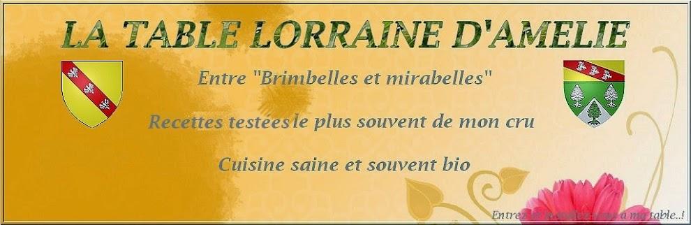 LA TABLE LORRAINE D'AMELIE