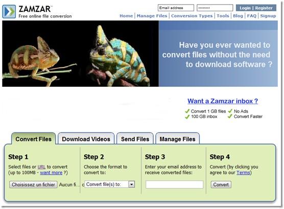 conversion de fichier en ligne gratuit et universel
