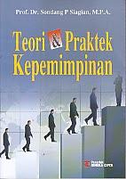 toko buku rahma: buku teori dan praktek kepemimpinan, pengarang sondang p. siagian, penerbit rineka cipta