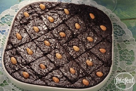 Basbousa with Chocolate