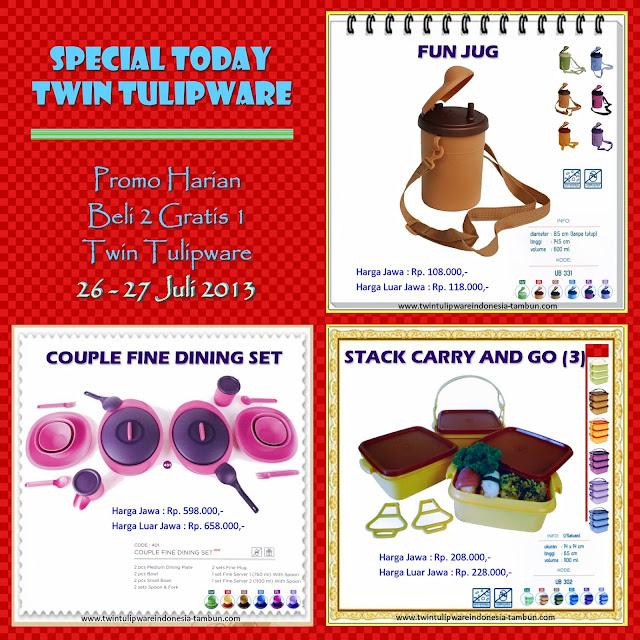 promo harian 2 free 1 tulipware juli 2013