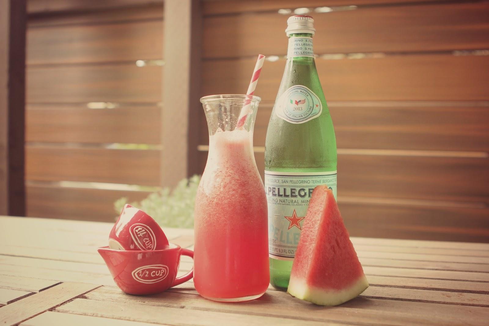 Rustic Peach: Sparkling Watermelonade