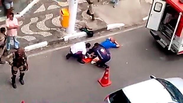 Saulo foi baleado na perna durante ação policial  (Foto: Reprodução)