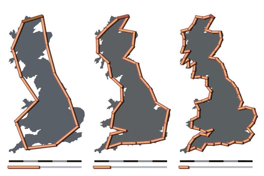 ¿Cuánto mide la costa de Gran Bretaña?