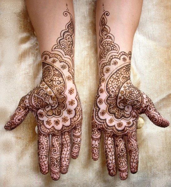 New Mehndi Patterns : New bridal full hand mehndi design