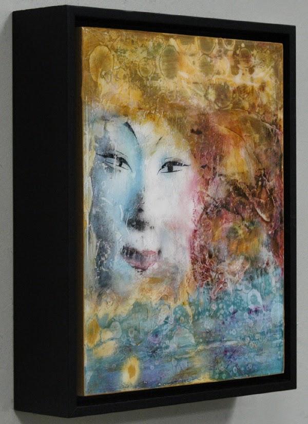 plaster mixed media painting by Sandra Duran Wilson