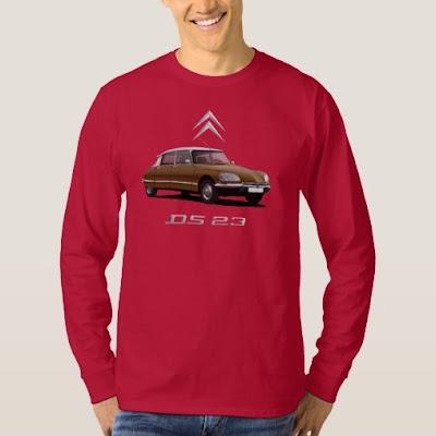Citroën DS valkoinen katto t-paita