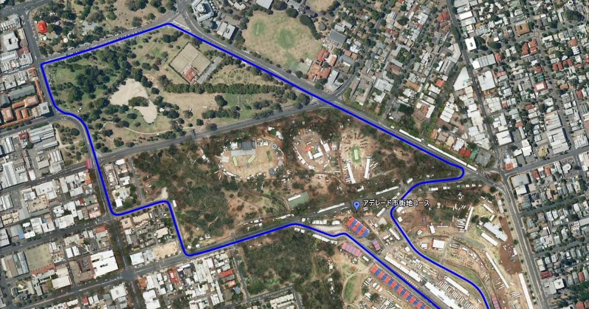 F1 Circuit Map: アデレード市街...