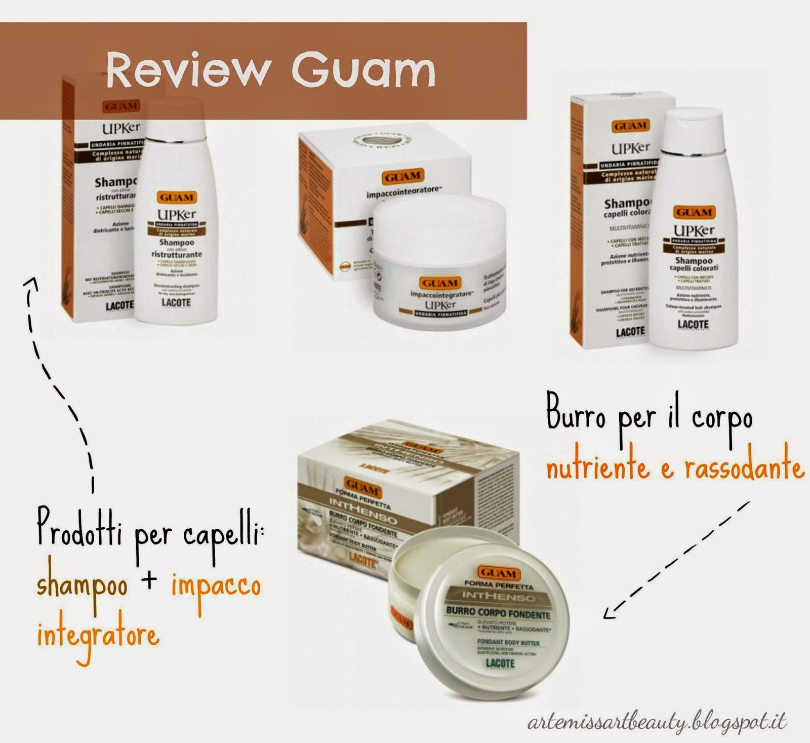 Guam review shampoo impacco e burro corpo