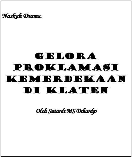 contoh naskah drama tema sejarah