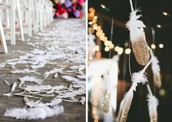 feathers wedding, roaring 20s wedding, feathers wedding decors