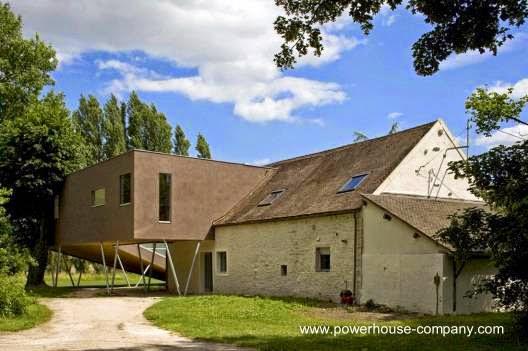 Extensión de casa de granjero en Francia moderna ampliación