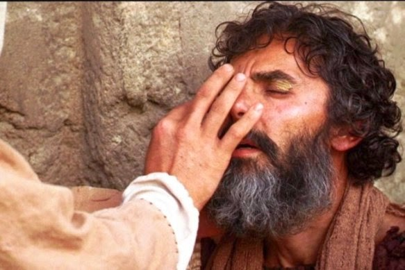 Znalezione obrazy dla zapytania pomoc slepemu jezusa
