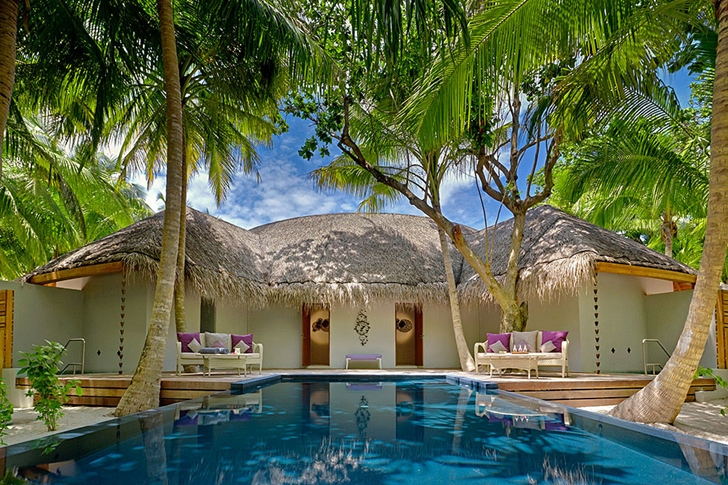 Resort residence in Luxury Dusit Thani Resort in Maldives