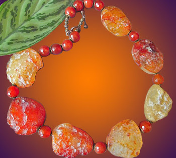 CARNELIAN Agate Natural Gemstone Round Peach Pink Necklace XL