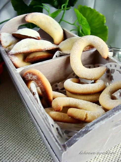 Rogaliki i księżyce marcepanowe ( ciasteczka marcepanowe )