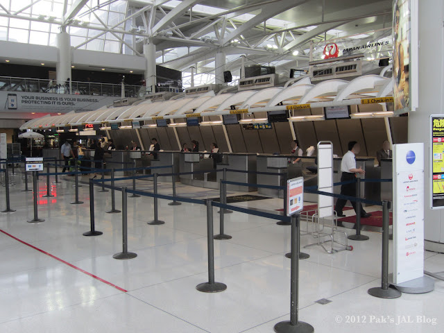JAL check-in counters at New York JFK