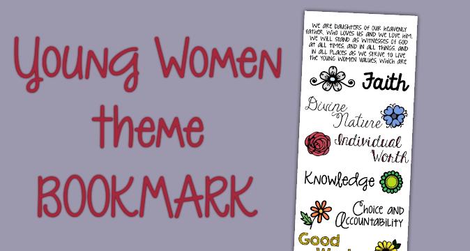 Super Cute YW Theme Bookmark Printable!