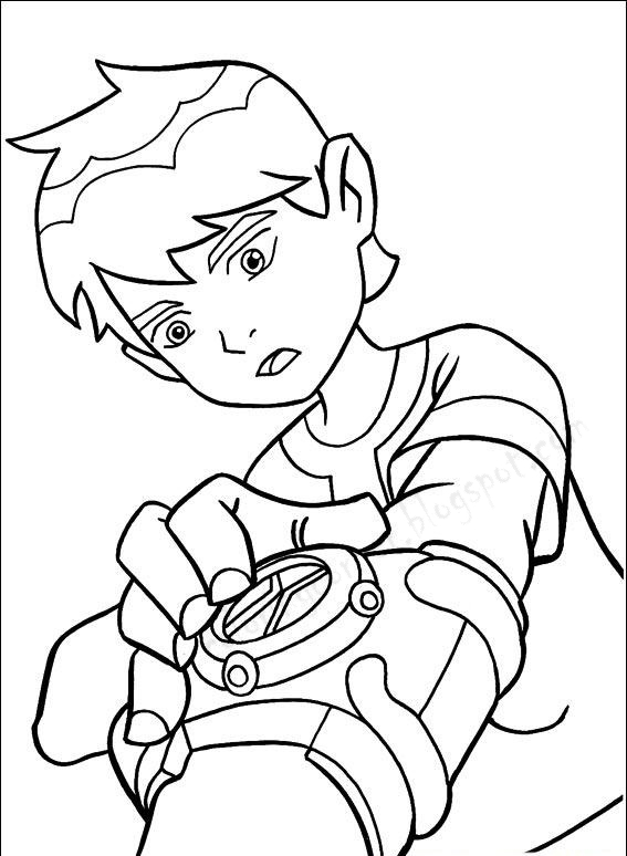 Ben 10 coloring pages for Maschera ben ten da colorare