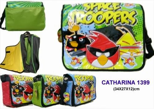 Tas Selempang Sekolah Anak TK dan SD Catharina 1399 Angry Birds Terbaru Murah dan Bagus