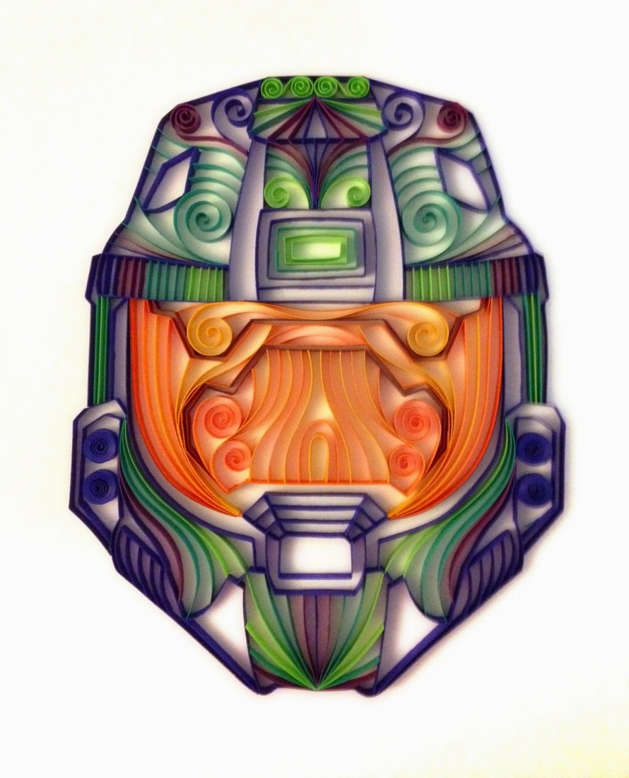 09-Halo-Master-Chief-Helmet-Alia-AliaDesign-Sci-Fi-and-Superhero-Paper-Quilling-www-designstack-co