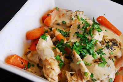 Crock Pot Creamy Tarragon Chicken from LaaLoosh found on SlowCookerFromScratch.com