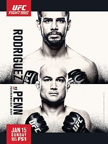 UFC Phoenix  - Rodriguez vs Penn - 15/01- 20h
