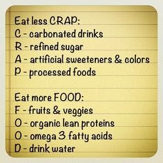 Less Crap More Food