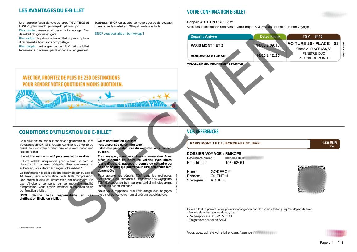 Tous les tarifs TGV SNCF