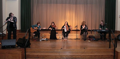 Cherish the Ladies in concert at St. Barnabas on Friday night. (Photo by Donna Davis)