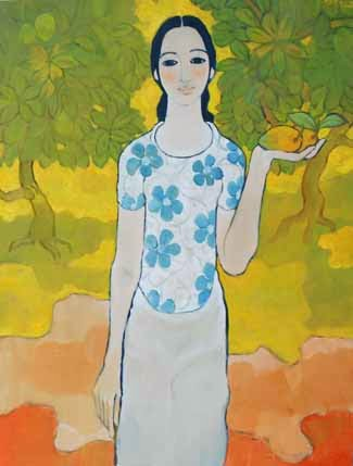Lady in the Mango Garden