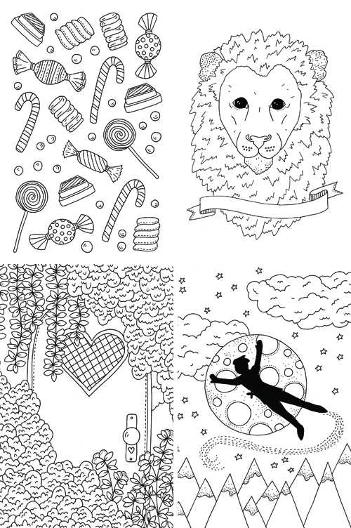 Emma Margaret Illustration Uppercase Colouring Book Childlike Wonder 2016