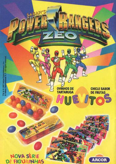 Goma de Mascar (chiclete) Huevitos da Arcos - Coleção Power Rangers - 1997.