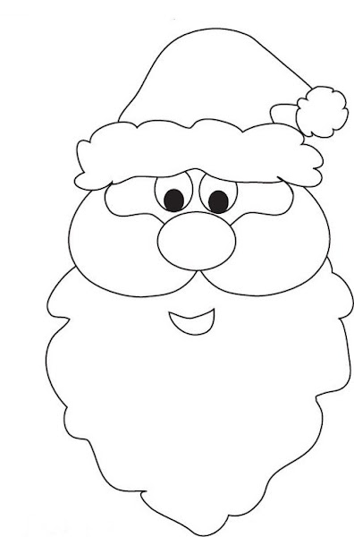 Printable Santa Face Coloring Pages
