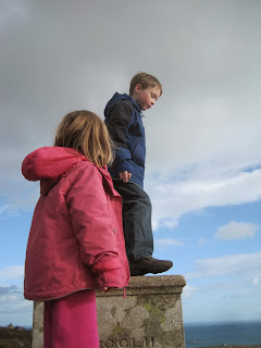 Boy on the top step