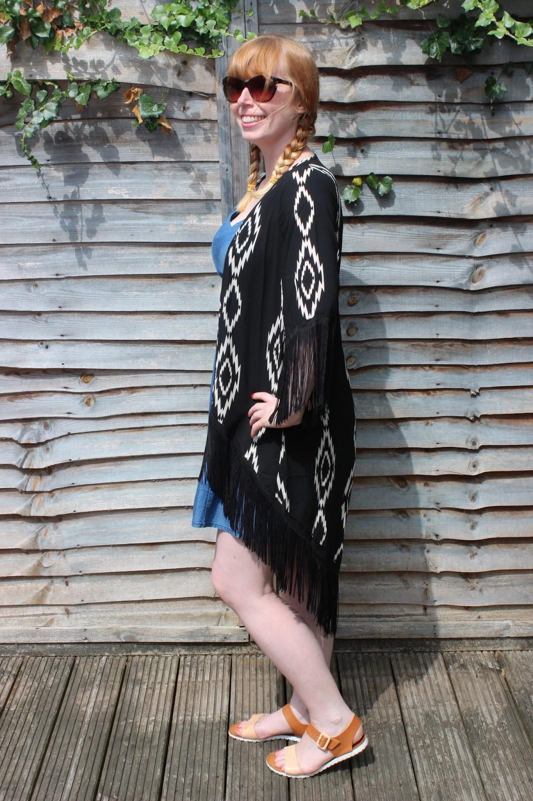 New Look aztec print kimono outfit