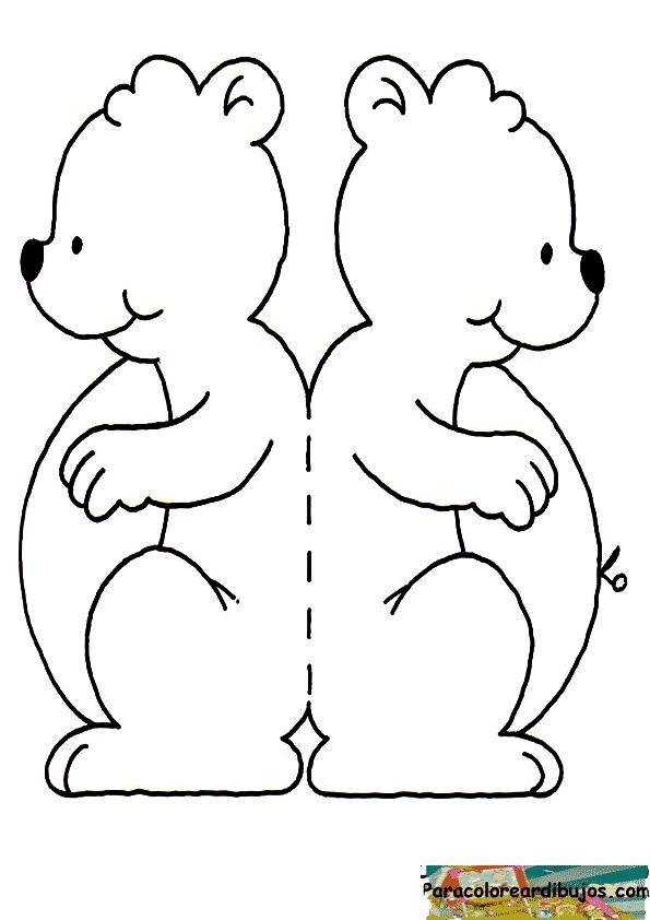 oso para colorear y recortar
