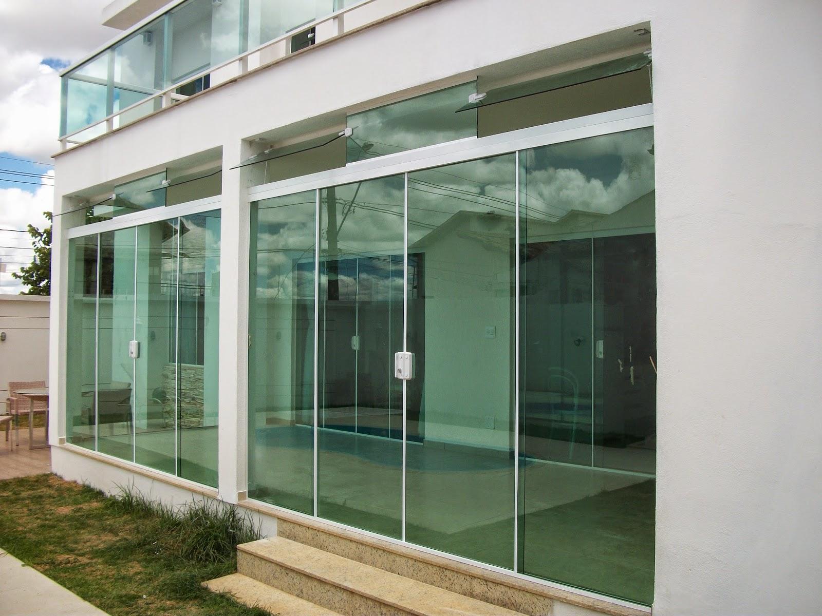L der temper for Porta 4 folhas de vidro temperado