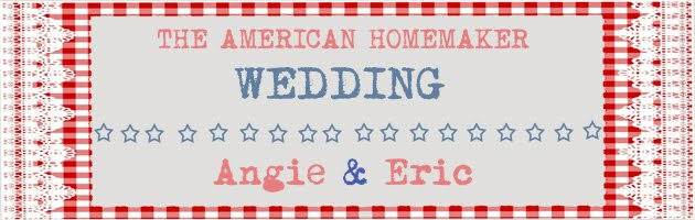 Angie & Eric: The American Homemaker Wedding