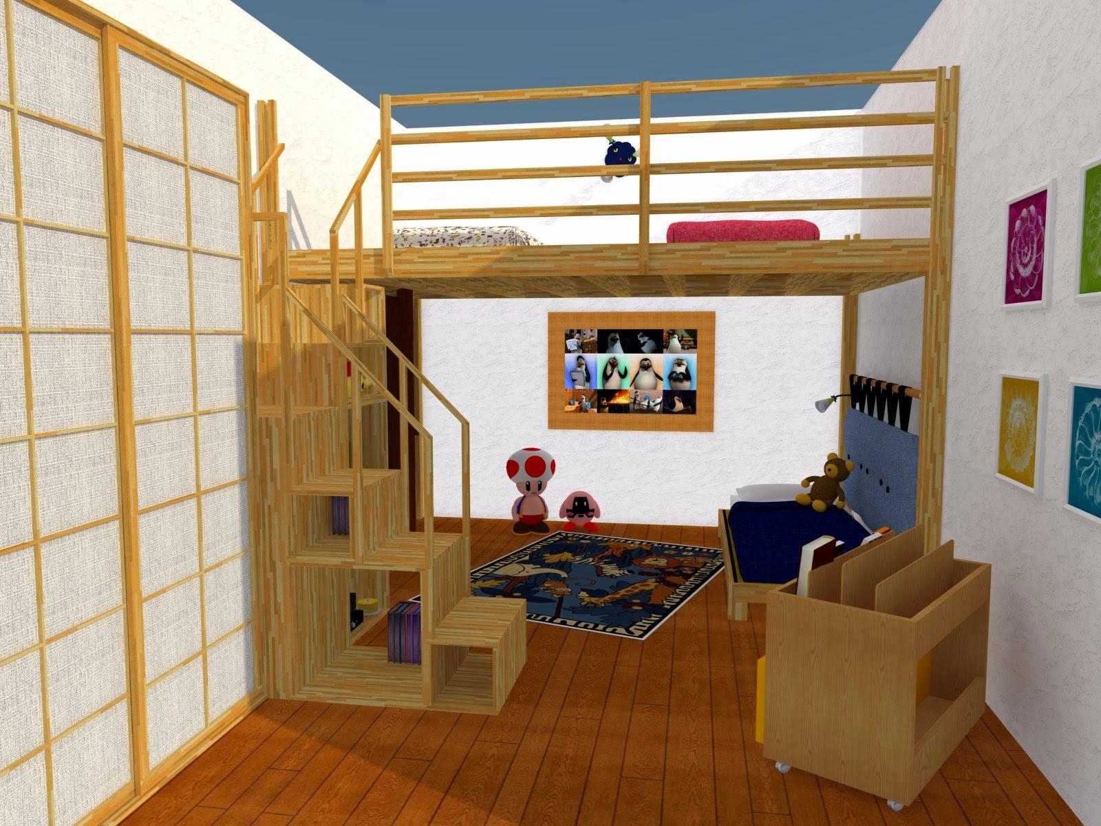Soppalco in legno esempi letti a soppalco - Soppalco per letto ...