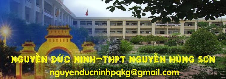 Nguyễn Đức Ninh - THPT Nguyễn Hùng Sơn