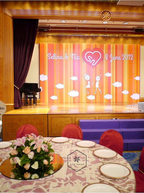 Wedding stage backdrop by Lily Sarah