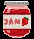 苺ジャムのイラスト