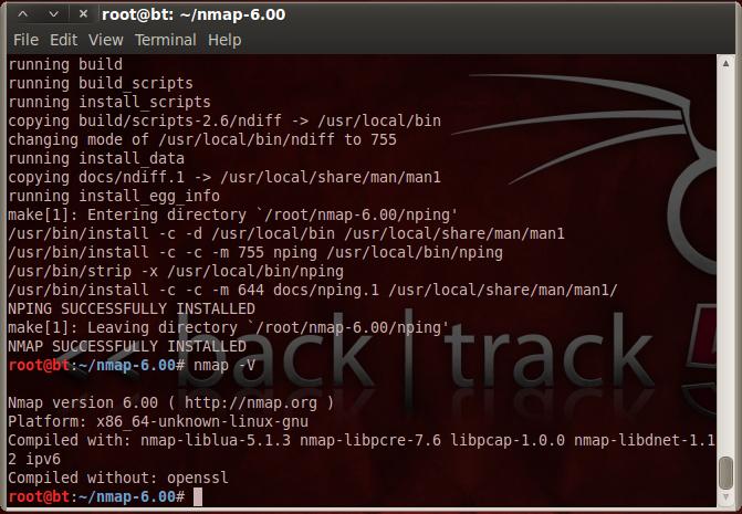 marshalgraham: Installing Nmap 6 on BackTrack 5 R2