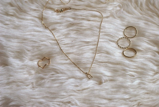 Necklace and Rings by Mango and Pimkie
